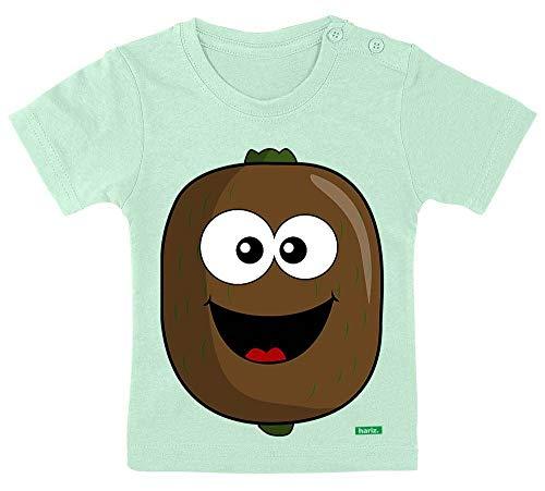HARIZ Baby T-Shirt Kiwi Lachend Früchte Bunt Plus Geschenkkarte Zahnpasta Grün 15-24 Monate / 80-92cm