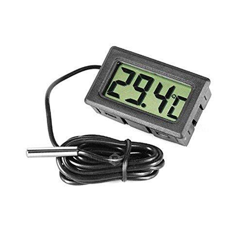 FEDUS Digital Sensor LCD Wired Probe Electronic Mini Portable Pocket Temperature Meter Test for Room Temperature fridges Freezer and Aquarium Indoor-Outdoor Industrial Laboratory