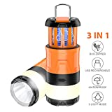 Aerb Camping Lampe, Mückenlampe Moskitolampe 3 in 1 LED Camping Laterne Winddicht, für Angeln,...