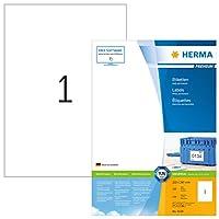 HERMA 4428ラベルプレミアムA4 210 x 297 mmホワイトペーパーマット100個。