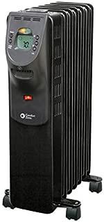 Comfort Zone CZ9009 1500 Watt Oil-Filled Digital Radiator Heater with Silent Operation, Black