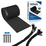 MEGAQ Kabel-Management-Organizer-System, aus Neopren, 3000 x 130 mm, selbstgemacht, verstellbar,...