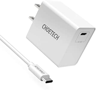 CHOETECH USB C Charger 18W Type C Fast Wall Charger Power Delivery with USB-C Cable for iPhone 11 Pro Max Xs Max XR X, iPad Pro, Samsung Galaxy Note 10+/Note 10/S10, Google Pixel 3 XL