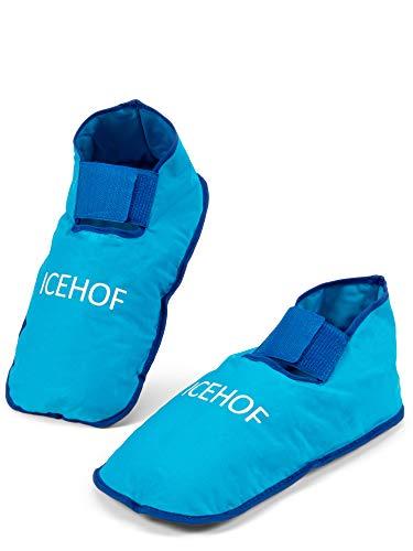 ICEHOF Bolsa gel frio para pies - Calcetines de refrigeración - Calzado de terapia de frío para pies en terapia de quimioterapia Calcetines de hielo para reumatismo bolsa hielo lesiones pie