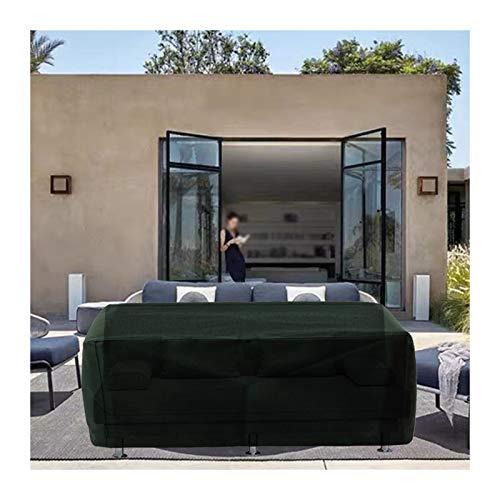 YJFENG Cubierta A Prueba De Polvo del Sofá del Patio, Plegable Impermeable Funda De Tela Oxford, 600x300D para Muebles Seccionales, con Bolsa De Almacenamiento (Color : Green, Size : 160x130x90cm)