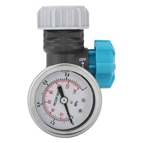 Valvola di pressione dell'acqua, G3/4 in Valvola di regolazione della pressione dell'acqua regolabile con manometro Regolatore di irrigazione da giardino a effetto serra