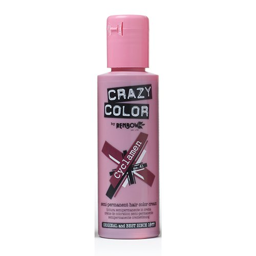 Crazy Color Cyclamen Nº 41 Crema Colorante del Cabello Semi-permanente