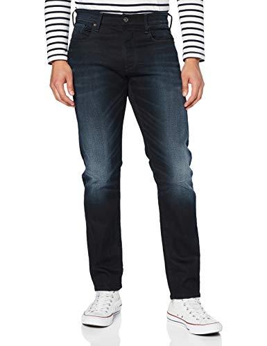 G-STAR RAW Herren 3301 Slim Fit Jeans, dk aged 8466-89, 38W / 32L
