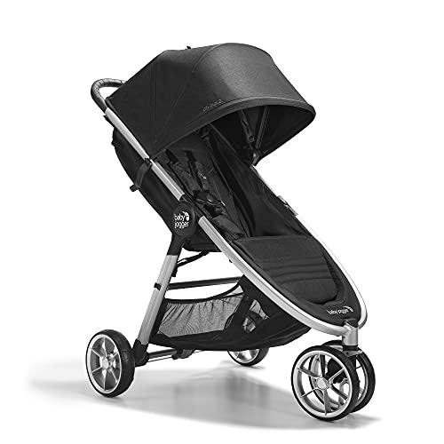 Baby Jogger City Mini 2 - Cochecito de bebé de 3 ruedas, modelo único, plegable, ligero, color negro