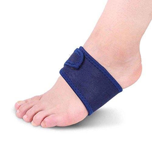 Fangfeen Arch Fuß Bandage atmungsaktiv Stoff Bandage atmungs Bogen Plattfuß Orthotics Bandage Freie Größe Blau