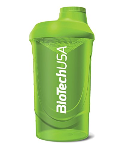 Biotech Shaker per Frullati di Proteine, Verde - Capacità: 600 ml