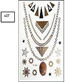 JIEIIFAFH 6 Piezas de Tatuaje Temporal Personalidad Creativa Pegatina de Fiesta Bronceado Pintado Impermeable Tatuaje Pegatinas (Color : 6-Piece Set)
