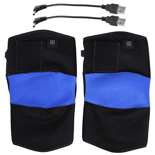 Rodilleras, rodillera con calefacción USB de 41 cm, eléctrica para dolor de rodilla de ancianos