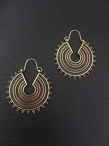 Boho jewellery, vintage hoops earring, boho hoops earring, brass hoops earrings,antique boho earrings,