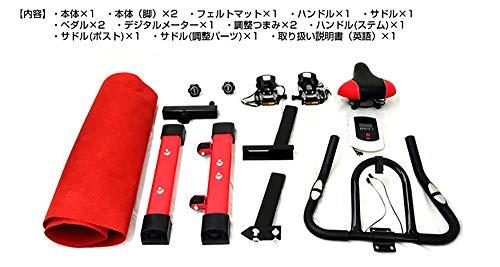 WEIMALLフィットネスバイクスピンバイク静音心拍数計測負荷調節室内家庭用エクササイズバイク(レッド)