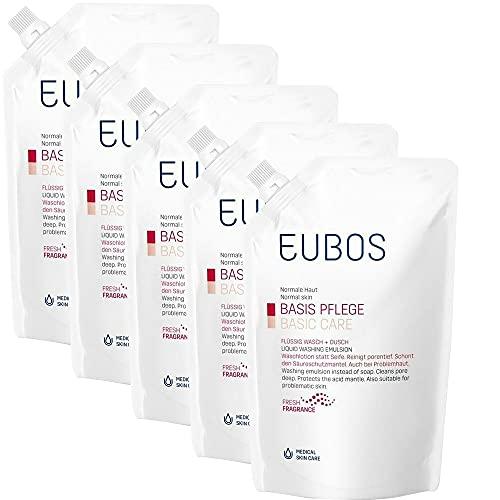 Eubos Flüssig Wasch + Dusch, Spar-Set 5x400ml