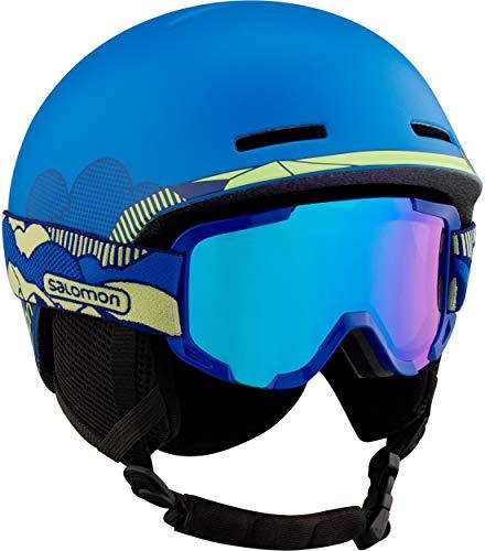 Salomon ski- en snowboardhelm voor kinderen met skibril (cat. 2), geschikt voor brildragers.
