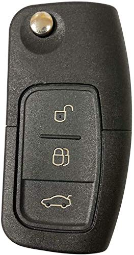 Shoppy Lab Compatibile Con Guscio Scocca Cover Telecomando 3 Tasti Ricambio Per Autovetture Ford Focus Fusion C-Max Fiesta Galaxy Chiave Completa di Guscio E Lama Estraibile