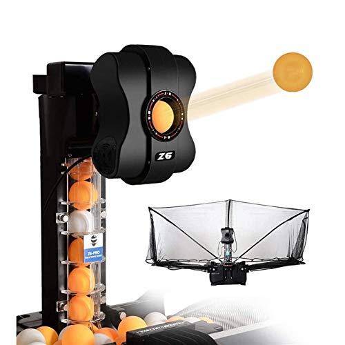 FQCD Ping-Pong-Maschine Tischtennis Roboter Multi-Engel automatische Ping-Pong-Maschine mit 36 verschiedenen Spin-Bälle for Üben Home School Gym