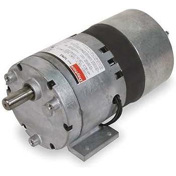 DAYTON 1LPZ6 AC//DC Gearmotor,90 rpm,115V,Open Vented