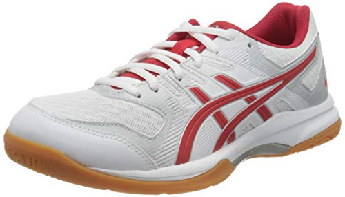 ASICS Womens Gel-Rocket 9 Indoor Court Shoe, Weiß Hellrot, 40 EU