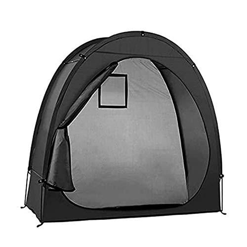 HSART Carpa para Bicicletas Impermeable 190T cobertizo para Guardar Sala de Almacenamiento de Escombros Domésticos con Diseño de Ventana para Acampar al Aire Libre Negro