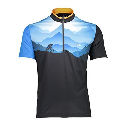 CMP Herren Radtrikot Freebike T-Shirt 31C6487 Antracite 56