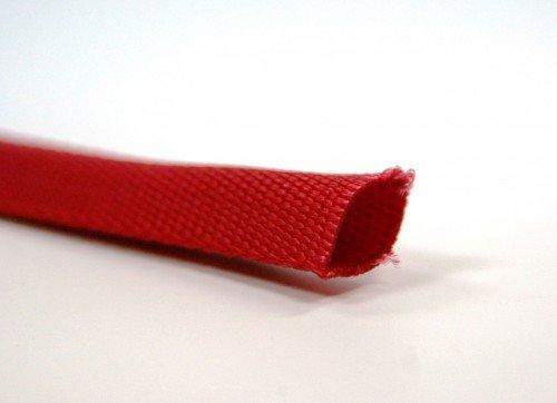 10m Schlauchgurt /Schlauchband aus Polyamid, 25mm breit, rot