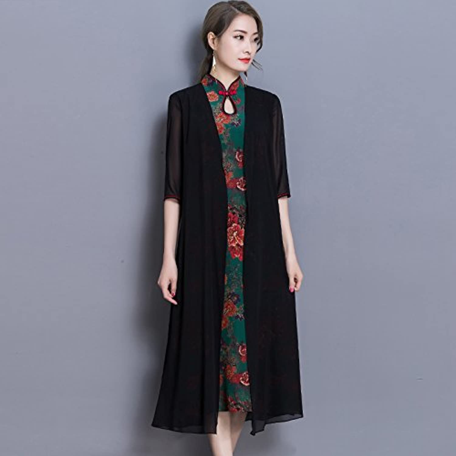 XIURONG Spring and Summer Lady's Loose Dress Dress