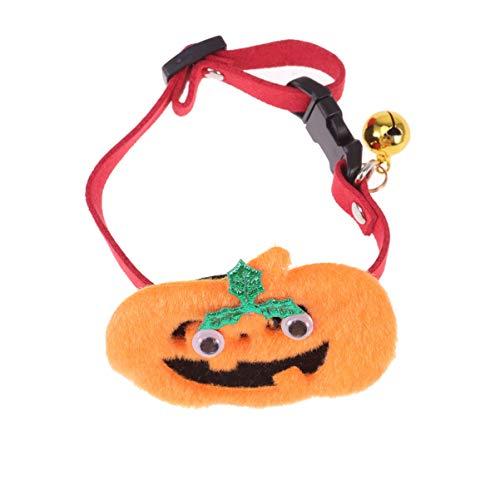 PATKAW Collares de Calabaza para Mascotas Collares para Perros de Halloween Accesorios para Cachorros Gatitos Y Mascotas Pequeñas Naranja