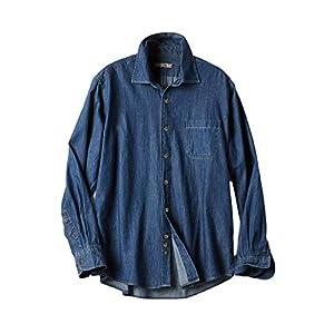 [ドゥクラッセ]レギュラーカラーダンガリーシャツ/長袖 (54838) Lダークインディゴ