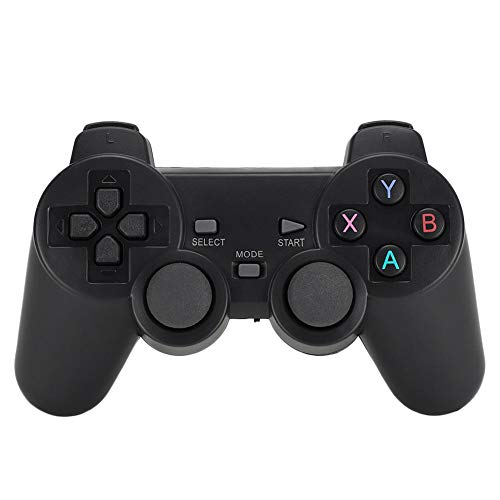 Mando Inalámbrico para PS3, Controlador de Juego Universal con Doble vibración & Receptor USB 2.4Ghz, Wireless Gamepad Joystick para PC/TV/TV...
