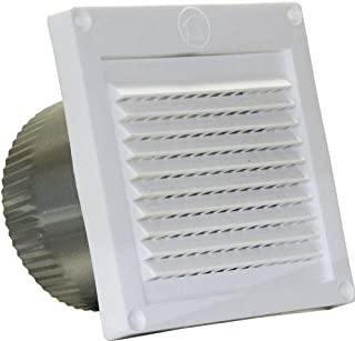 Speedi-Products EX-EVML 04 4-Inch Diameter Micro Louver Eave Vent, White