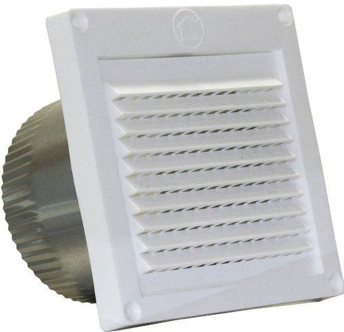 Speedi-Products EX-EVML 04 4-Inch Diameter Micro Louver Eave Vent, White