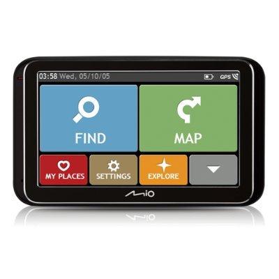 Mio Spirit 6800 draagbaar/gefixeerd 5 inch touchscreen 172,2 g zwart navigatiesysteem