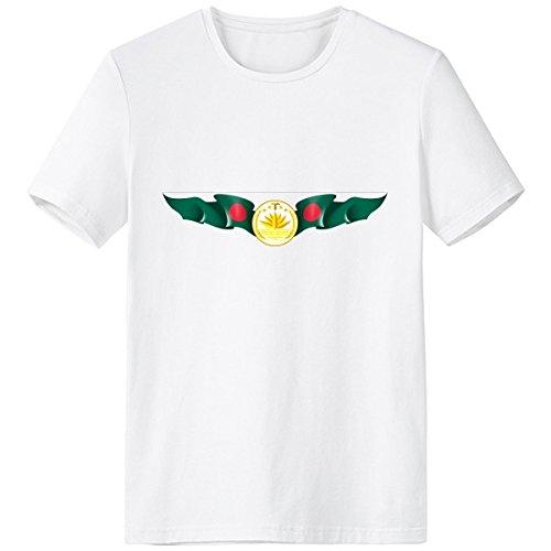 DIYthinker Bangladesh Emblema Nacional Símbolo del País Marca Escote De Patrón De La Camiseta Blanca Primavera Y El Verano De Tagless La Comodidad del Algodón Se Divierte Las Camisetas