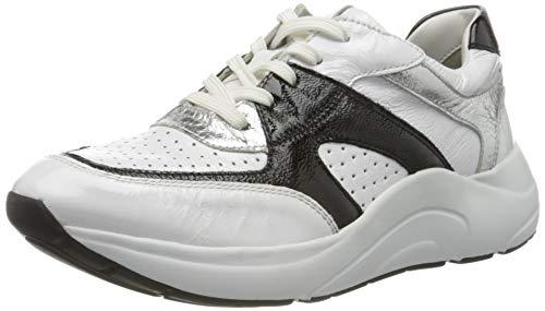 Caprice Kiss, Zapatillas Mujer, Blanco (White/Black 106), 37 EU