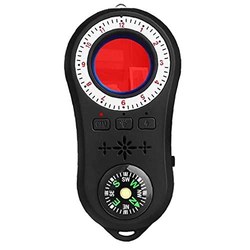 Tuimiyisou Bug Anti-Spy Detector Mini Detector de la cámara espía con Audio Buscador de Dispositivos GPS Brújula luz de Flash escáner Señal Señal Rastreador Buscador hábil Fabricación