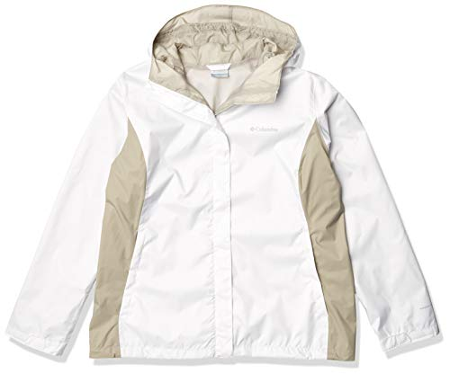 Columbia Damen Arcadia II Rain Jacket Regenjacke, Weiß, Flint Grey, Large