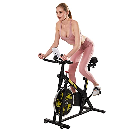 EILISON Alpha Smart Exercise Bike - Indoor Cycling Bike for Home Gym with Comfortable Seat Cushion, Stationary Cycling for Cardio - PRODUCTS WORTH $100 INSIDE