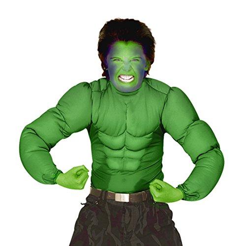 NET TOYS Hulk Kostüm Superhelden Kinderkostüm 128 cm 5-7 Jahre Comic Superheldenkostüm grün Muskelkostüm Monster Sixpack Muskel Shirt Halloween Verkleidung Karnevalskostüme Kinder Jungen Superheld