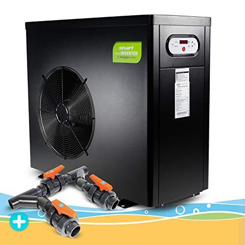 Wärmepumpe Smart Inverter 8,0 kW inklusive Bypass, Wassererwärmung, Poolheizung, Warmwasser, Wärmetauscher, Heizpumpe, Schwimmbecken, Pool