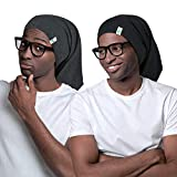 Long Satin Bonnet for Men Sleeping with Afro Dreads Locs Braids Curly Hair...