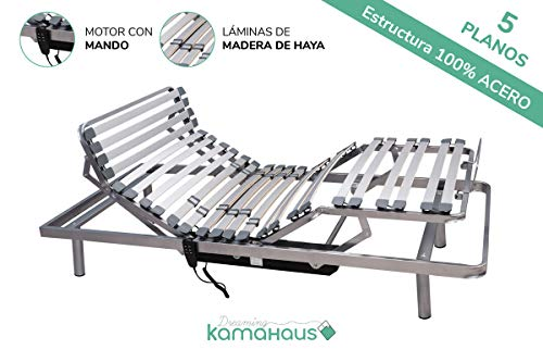 Dreaming Kamahaus Cama Articulada 5 Planos | Motor con Mando por Cable |150 x 190cm |