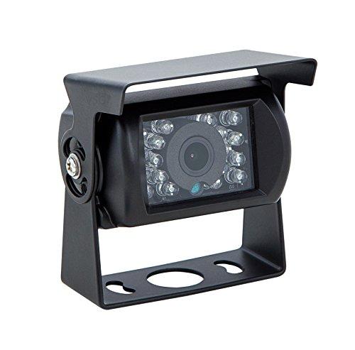 VSG24 23123 – Wohnmobile Starter Rückfahrkamera, Transporter Kamera inkl. Adapter Kabel, 600TV Auflösung, Nachtsicht, 120° Linse 12 V, IP67 - Schwarz