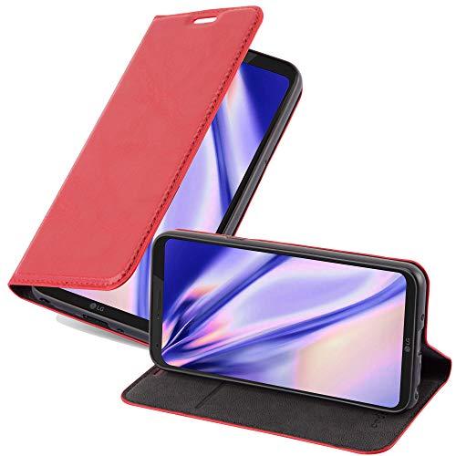 Cadorabo Custodia Libro per LG Q6 in ROSSO MELA - con Vani di Carte, Funzione Stand e Chiusura Magnetica - Portafoglio Cover Case Wallet Book Etui Protezione