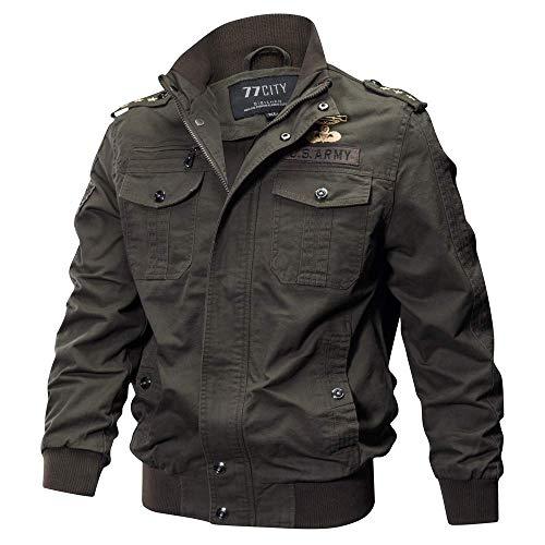 HULKY Vendita Calda Giacca Invernale da Uomo Militare Giacca Tattica Leggera e Traspirante Abbigliamento Materiale Super Resistente per Creare Un Caldo Inverno(Verde dell'Esercito,XXXXX-Large)