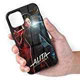 Alita Battle Angel Phone Case Compatible with iPhone 11Pro, Pattern Tempered Glass Back Cover Soft TPU Anti Scratch Bumper Design Phone Cases