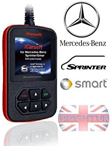 iCarsoft Mercedes-Benz Sprinter Smart Multi-system Scanner i980 OBD Diagnostics Tool
