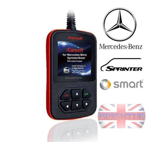 iCarsoft i980 für Mercedes-Benz/Sprinter/Smart Multi-System-Scanner Mercedes Benz OBD Diagnose-Tool